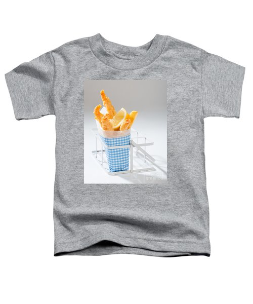 Fish And Chips Toddler T-Shirt by Amanda Elwell