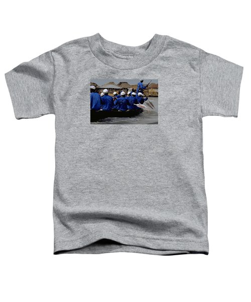 Toddler T-Shirt featuring the photograph Ganvie - Lake Nokoue by Travel Pics