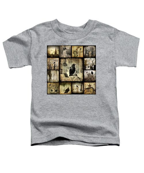 Gothic And Crows Toddler T-Shirt by Gothicolors Donna