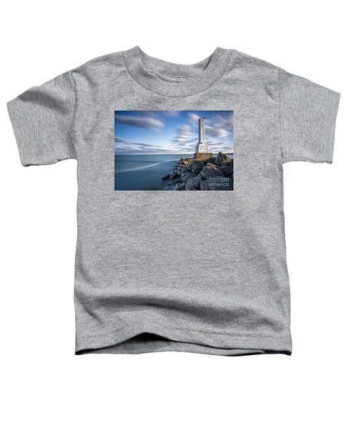 Huron Harbor Lighthouse Toddler T-Shirt by James Dean