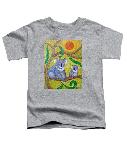 Koala Sunrise Toddler T-Shirt by Sarah Loft