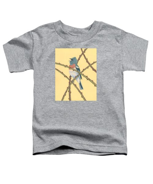 Lazuli Bunting Toddler T-Shirt by Nathan Marcy