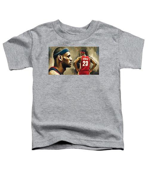 Lebron James Artwork 1 Toddler T-Shirt by Sheraz A