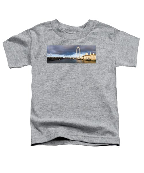 London Eye At South Bank, Thames River Toddler T-Shirt by Panoramic Images
