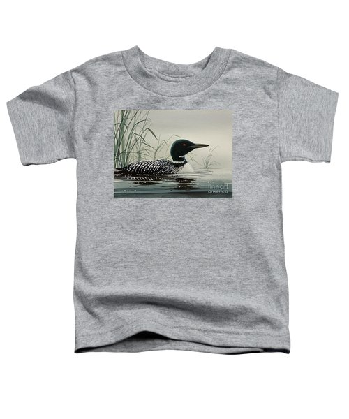 Loon Near The Shore Toddler T-Shirt by James Williamson