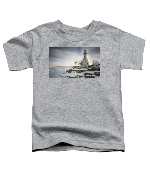 Marblehead Lighthouse Winter Toddler T-Shirt by James Dean