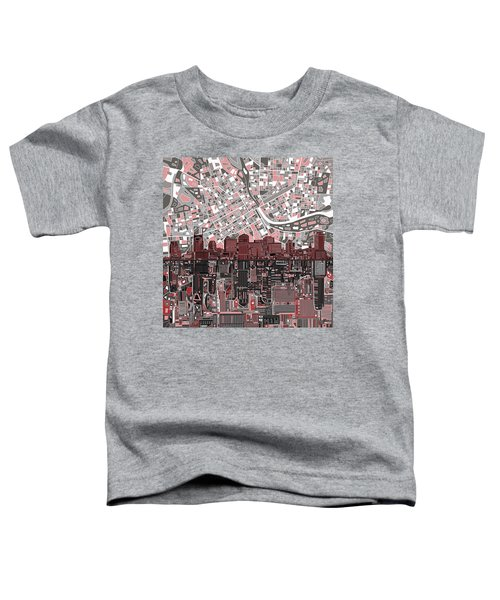 Nashville Skyline Abstract 3 Toddler T-Shirt by Bekim Art