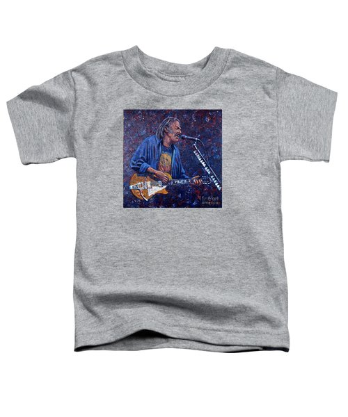 Neil Young Toddler T-Shirt by John Cruse Knotts