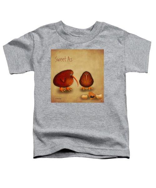 New Arrival. Kiwi Bird - Sweet As - Boy Toddler T-Shirt by Marlene Watson
