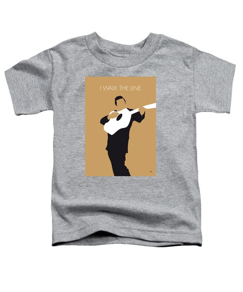 No010 My Johnny Cash Minimal Music Poster Toddler T-Shirt by Chungkong Art