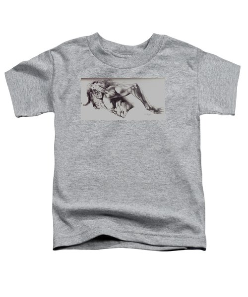 North American Minotaur Pencil Sketch Toddler T-Shirt by Derrick Higgins