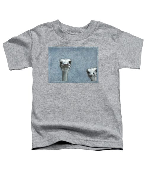 Ostriches Toddler T-Shirt by James W Johnson