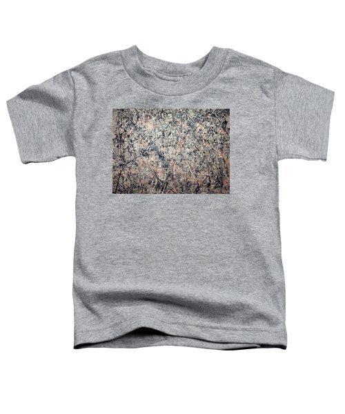 Pollock's Number 1 -- 1950 -- Lavender Mist Toddler T-Shirt by Cora Wandel