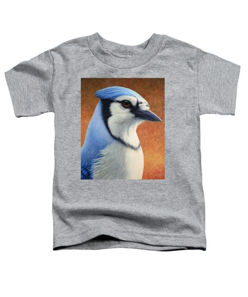 Portrait Of A Bluejay Toddler T-Shirt by James W Johnson