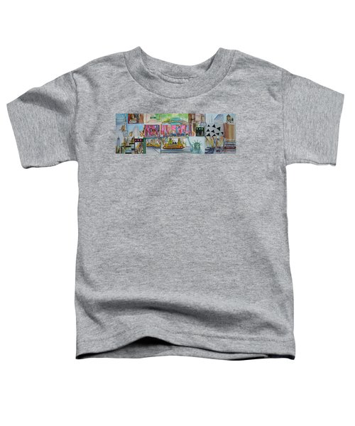 Postcards From New York City Toddler T-Shirt by Jack Diamond