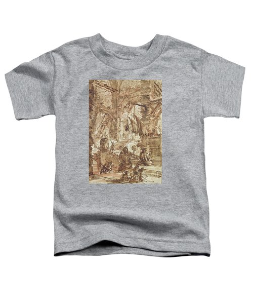 Preparatory Drawing For Plate Number Viii Of The Carceri Al'invenzione Series Toddler T-Shirt by Giovanni Battista Piranesi