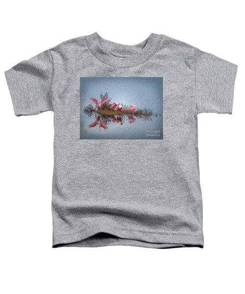 Roseate Spoonbills At Rest Toddler T-Shirt by Lianne Schneider