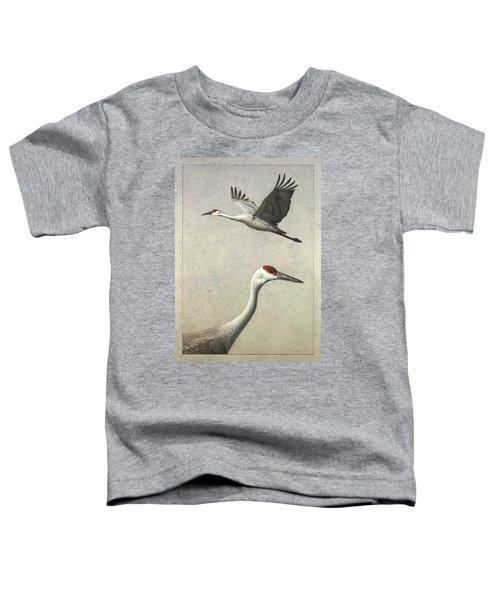 Sandhill Cranes Toddler T-Shirt by James W Johnson
