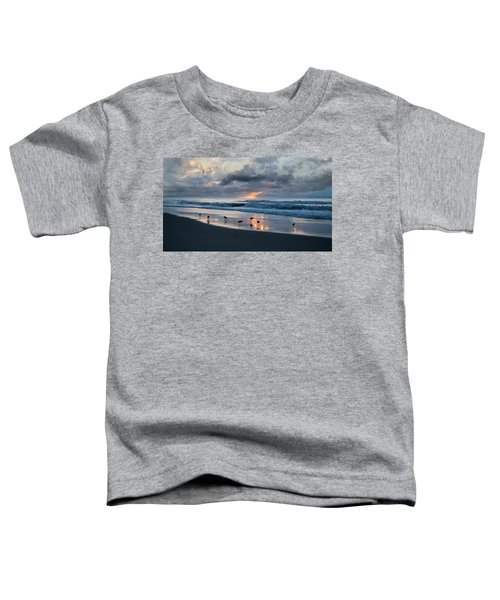 Sandpipers In Paradise Toddler T-Shirt by Betsy Knapp