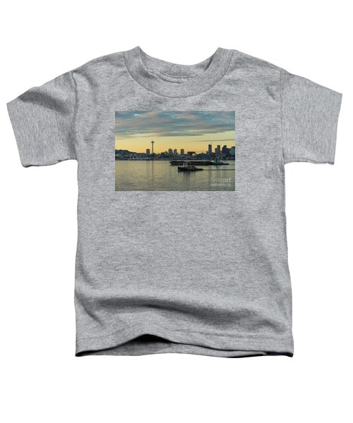 Seattles Working Harbor Toddler T-Shirt by Mike Reid
