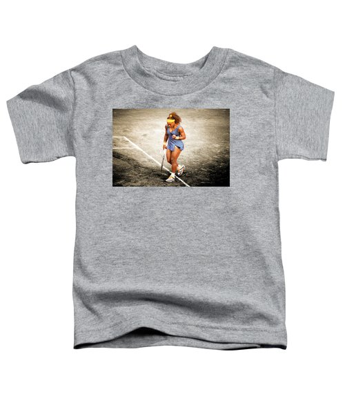 Serena Williams Count It Toddler T-Shirt by Brian Reaves