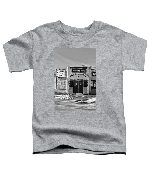 Stone Pony In Black And White Toddler T-Shirt by Paul Ward