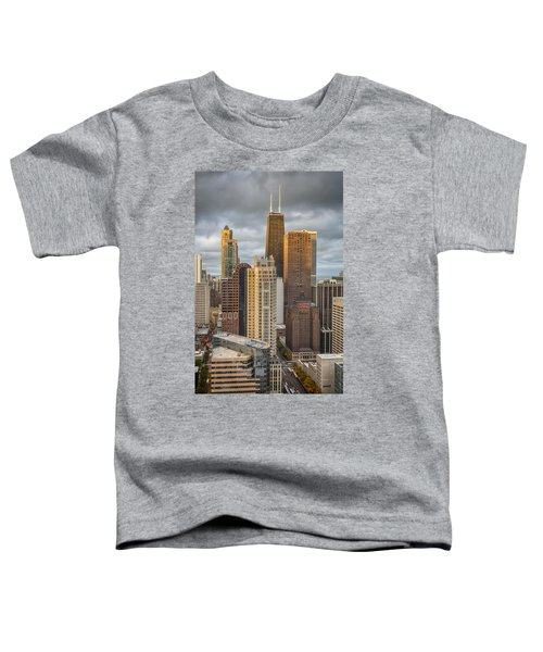 Streeterville From Above Toddler T-Shirt by Adam Romanowicz