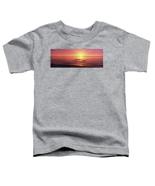 Sunset Over The Sea, Venice Beach Toddler T-Shirt by Panoramic Images