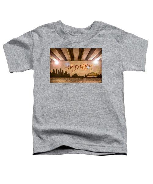 Sydney Graffiti Skyline Toddler T-Shirt by Semmick Photo