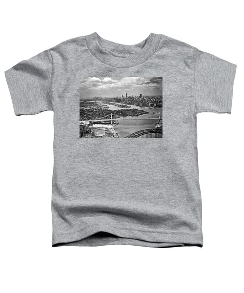 Triborough Bridge Is Completed Toddler T-Shirt by Underwood Archives