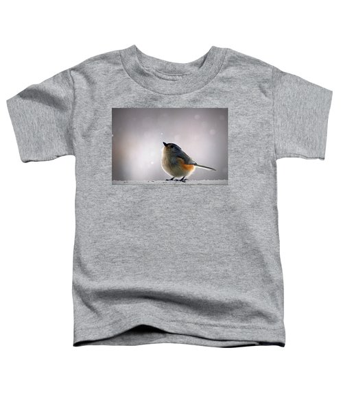 Tufted Titmouse Toddler T-Shirt by Cricket Hackmann