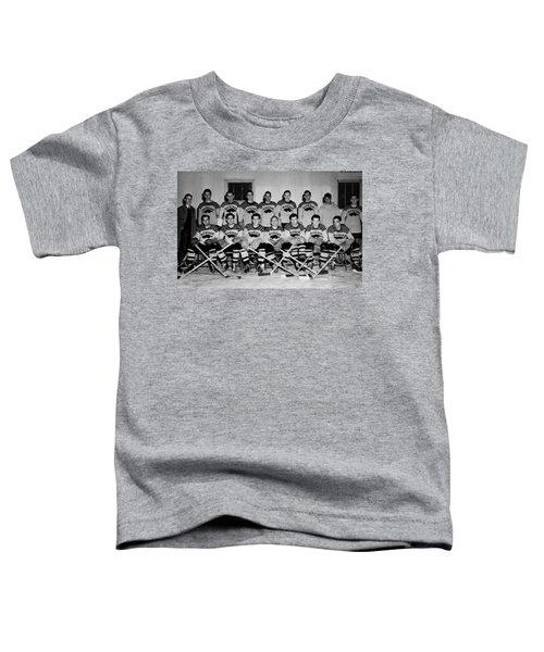 University Of Michigan Hockey Team 1947 Toddler T-Shirt by Mountain Dreams