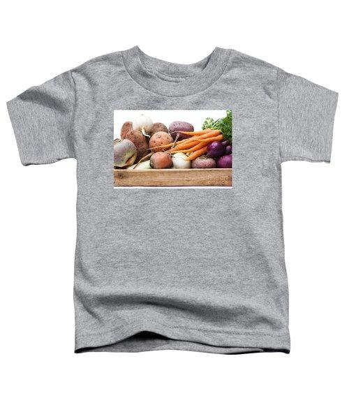 Veg Box Toddler T-Shirt by Anne Gilbert