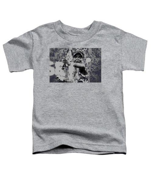 Venus Williams Paint Splatter 2e Toddler T-Shirt by Brian Reaves