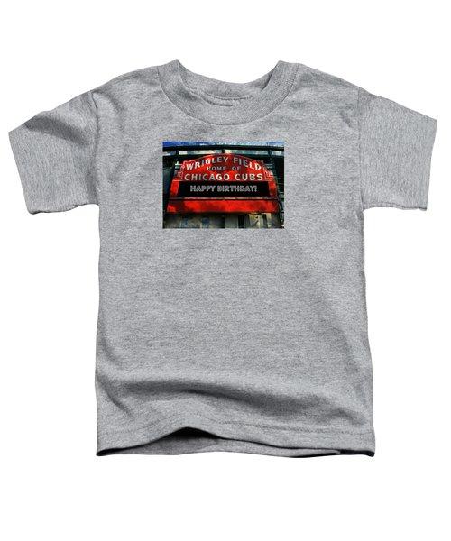 Wrigley Field -- Happy Birthday Toddler T-Shirt by Stephen Stookey