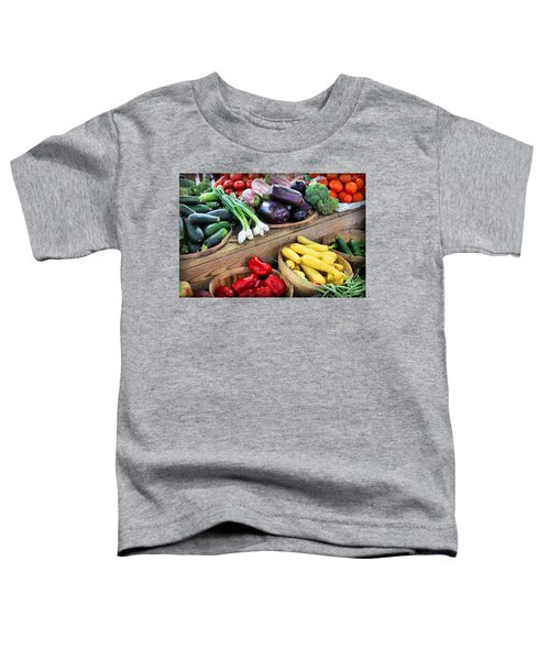 Farmers Market Summer Bounty Toddler T-Shirt by Kristin Elmquist