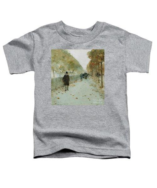 Quai Du Louvre Toddler T-Shirt by Childe Hassam