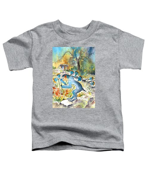 The Minotaur In Knossos Toddler T-Shirt by Miki De Goodaboom