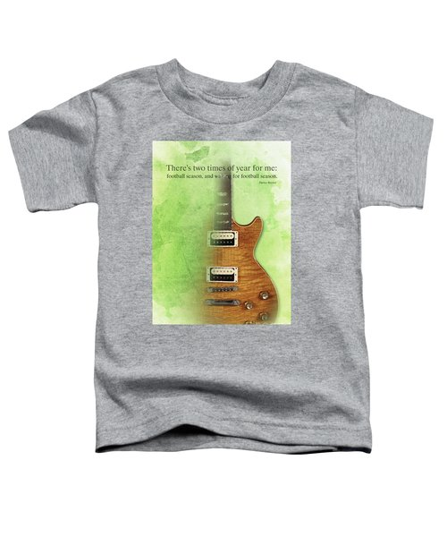 Darius Rucker Inspirational Quote, Electric Guitar Poster For Music Lovers And Musicians Toddler T-Shirt by Pablo Franchi