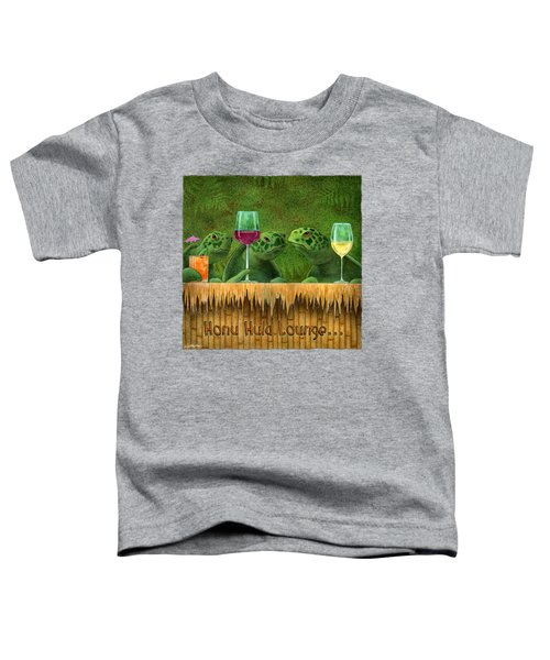 Honu Hula Lounge... Toddler T-Shirt by Will Bullas