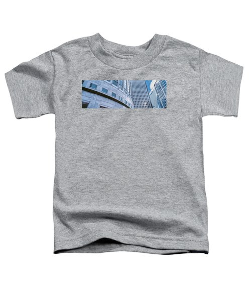 Skyscrapers In A City, Canary Wharf Toddler T-Shirt by Panoramic Images