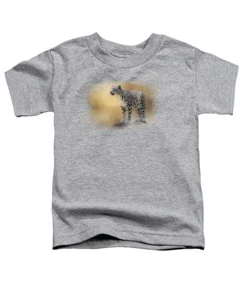 Snow Leopard Toddler T-Shirt by Jai Johnson