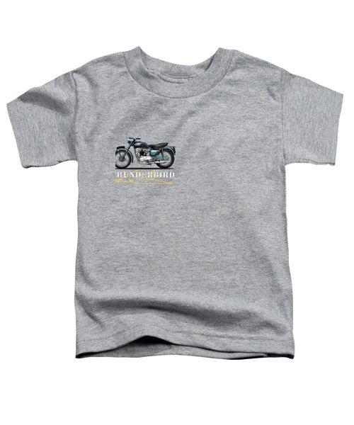 Triumph Thunderbird 1955 Toddler T-Shirt by Mark Rogan