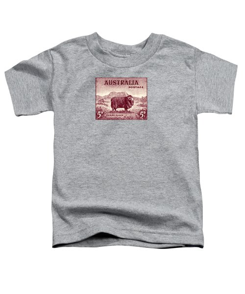 1946 Australian Merino Sheep Stamp Toddler T-Shirt by Historic Image