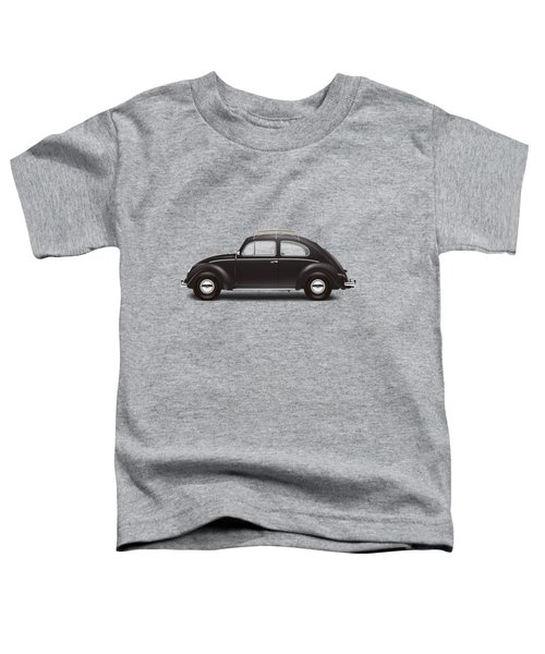 1953 Volkswagen Sedan - Black Toddler T-Shirt by Ed Jackson