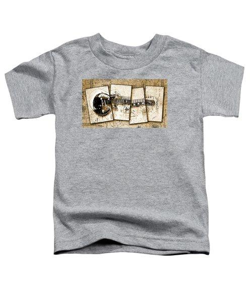 1955 Les Paul Custom Black Beauty V5 Toddler T-Shirt by Gary Bodnar