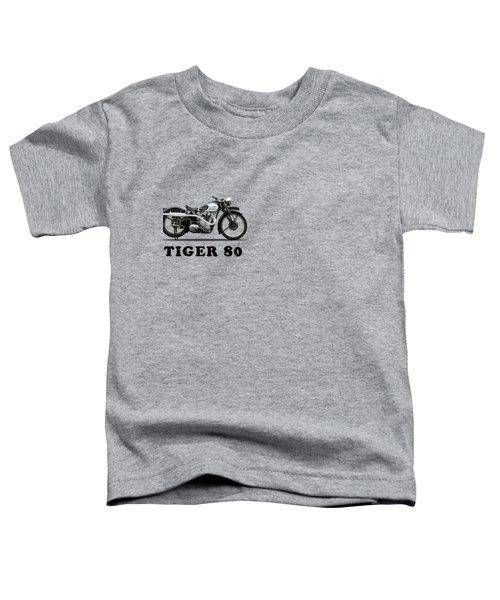 Triumph Tiger 80 1937 Toddler T-Shirt by Mark Rogan