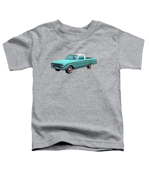 2nd Generation Falcon Ranchero 1960 Toddler T-Shirt by Chas Sinklier