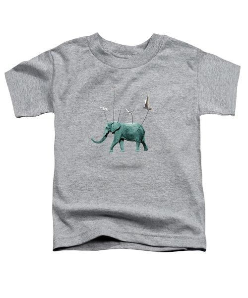 Elephant Toddler T-Shirt by Mark Ashkenazi