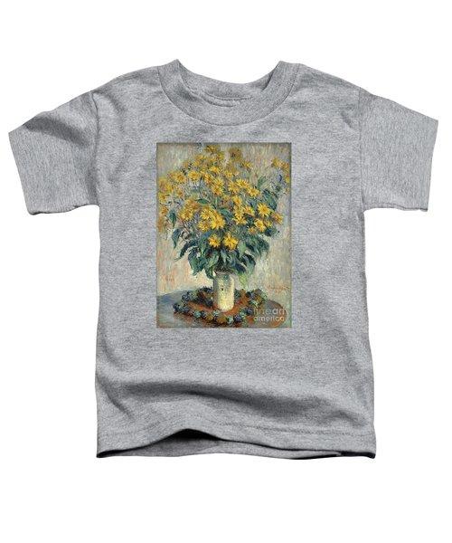 Jerusalem Artichoke Flowers Toddler T-Shirt by Claude Monet